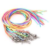 Skyllc® 30 X Multicolor Satin Necklace Pendant Cords Thread 2mm CHIC
