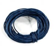 SG PARIS – Rue de la Perle – Zipe Bag Wax Cotton Cord/Diameter 1 mm/5 m/Blue