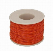 30 Metres of 1mm Wax Cotton Cord in Orange for jewellery making / arts and crafts