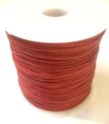 10m of 1mm Wax Cotton Cord in Brick Red for jewellery making / arts and crafts