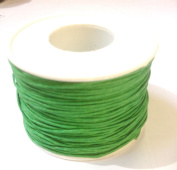 80m (1 Reel) of 1mm Wax Cotton Cord in Green