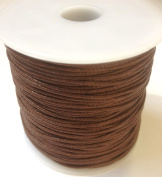 80m (1 Reel) of 1mm Wax Cotton Cord in Brown