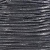 1mm Waxed Cotton Cord Thread Shamballa Macrame Jewellery - Black - 10 metres