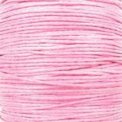 1mm Waxed Cotton Cord Thread Shamballa Macrame Jewellery - Baby Pink - 10 metres