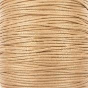 1mm Waxed Cotton Cord Thread Shamballa Macrame Jewellery - Natural - 10 metres