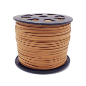 3mm Flat Faux Suede Cord - Camel - 5m
