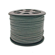3mm Flat Faux Suede Cord - Grey - 5m