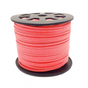 3mm Flat Faux Suede Cord - Pink - 5m