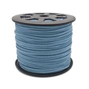3mm Flat Faux Suede Cord - Blue - 5m