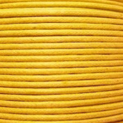k2-accessories 30M 1mm Waxed Cotton Thong Cord - Golden - C0609 / 3 Bundles