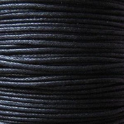 k2-accessories 30M 1mm Waxed Cotton Thong Cord - Black - C0603 / 3 Bundles