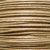 k2-accessories 30M 1mm Waxed Cotton Thong Cord - Pale Brown - C0597 / 3 Bundles