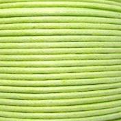 k2-accessories 30M 1mm Waxed Cotton Thong Cord - Pale Green - C0592 / 3 Bundles