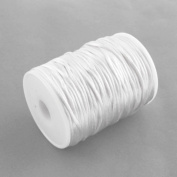 3M of 2mm Rattail Satin Nylon Cord Kumihimo - White / by bundle