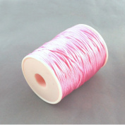 3M of 2mm Rattail Satin Nylon Cord Kumihimo - Bright Pink / by bundle