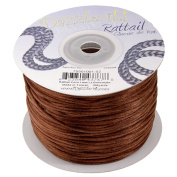 Dazzle It 1 mm Rattail Cord 100 yd Reel, Light Chocolate
