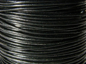 Leather Strap Leather Cord Leather Strip 5 m Round 1.0 mm Black