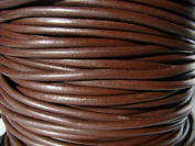 Leather Strap Leather Cord Leather Strip 5 m Round 4.0 mm Brown