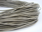 Leather Strap Leather Cord Leather Strip 10 m Round 2.0 mm Grey