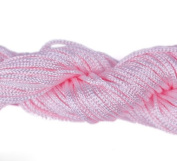 Orien Pink Dia of 1mm*27 Metr Spool Nylon Macrame Cords Thread String Rope Strape Beading Rattail for DIY Shamballa Braided Jewellery Bracelet Chinese Knot
