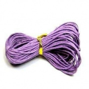 30 Metres 1mm Purple Waxed Cotton Necklace / Bracelet Jewellery Making Cord - 10m x 3 Bundles