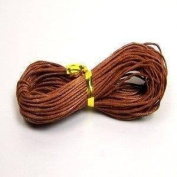 10M x 1mm Brown Waxed Cotton Necklace / Bracelet Jewellery Making Cord