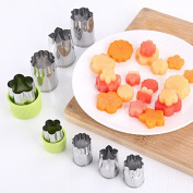 Fruit Mould Cutter,Hongxin Flower Shape Puzzle Vegetable/Fruit/Pudding/Toast Cutter Mould Slicer For DIY Cake Biscuit Tool New Year Gift, 8pcs/Set