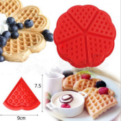 Binmer(TM) Heart Waffles Cake Chocolate Pan Silicone Mould Baking Mould Kitchen Tool For Home Restaurant