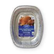 Berkley Jensen Oval Roasting Pans with Oven Bags, 2 ct. (pack of 2) A1