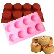 Taloyer 3D Cylindrical Silicone Cake Cookies Moulds Icing Candy Making Mould DIY Baking Pastry Decorating Tool