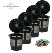 4 Reusable Single K-Cup For Filter Pod Coffee for Keurig Brewers By Home & Kitchen Goodies