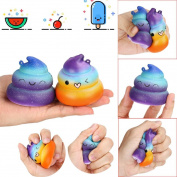 2PC Kid Toy Poo Scented Squishy Charm Slow Rising 7cm Simulation Toys