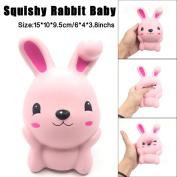 Soft Toys,Familizo 15cm Squishy Pink Cute Rabbit Squeeze Slow Rising Fun Dolls Decompression Gift