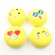 Soft Toys,Familizo Squishy Squeeze Stress Reliever Face Dolls Yellow Bun Scented Slow Rising Toys