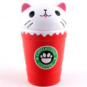 Kids Toys 14cm Cappuccino Coffee Cup Cat Scented Squishy Slow Rising Squeeze Toy