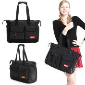 Love is® Baby Changing Bag Nappy Bag Nappy Tote 5PCs - Black