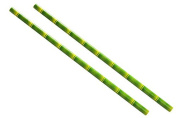 Box of 100 Bamboo Print Paper 100% Biodegradable / Eco-friendly Drinking Straws (20cm / 8inch) by wecansourceitltd®