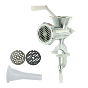 Totally Addict kd3243 Meat Mincer, Metal, grey, 18.5 x 10 x 25.5 cm