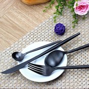 Espeedy 4 Pcs/Set Portable Travel Adult Kids Cutter Fork Spoons Stainless Steel Tableware Dinnerware Flatware For Camping Picnic