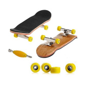 Techinal 3-Pack Professional Wooden Fingerboards / Finger Skateboard with Basic Bearing Wheels, Sport Games Kids Gift Maple Wood Set