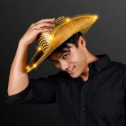 Shiny Gold Sequin Light Up LED Cowboy Hat