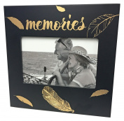 Just Contempo Special Memories Photo Frame, Black/Gold