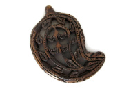 Hand Carved Wooden Handmade Filigree Paisley Pendant, Wood Art And Craft Framing Supplies Jewellery, GDS1046/9
