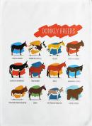 Breeds of Donkey -Large Cotton Tea Towel by Half a Donkey