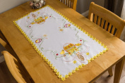 Easter Table Runner / Tablecloth with Embroidered Pattern Rectangle
