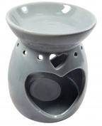 Aroma lamp oil burner ceramic oil burner Tealight Holder in Heart Shape Grey Decoration