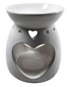 Fragrant Oil Burner Heart white Aroma Lamp Ceramic Oil Burner Tea Light Holder Decoration