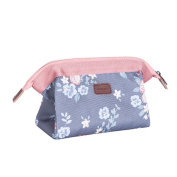 Nibesser Waterproof Makeup Bag Small Travel Pouch Cosmetic Bags Zipper Closure for Women Girls