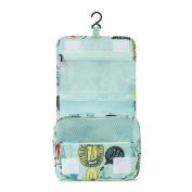 Nibesser Hanging Travel Cosmetic Bag Zipper Closure Waterproof Makeup Bag Travel Pouch for Women Girls