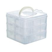 Nibesser Acrylic Makeup Organiser Cosmetic Storage Shelf Bedroom Storage Box with Holder